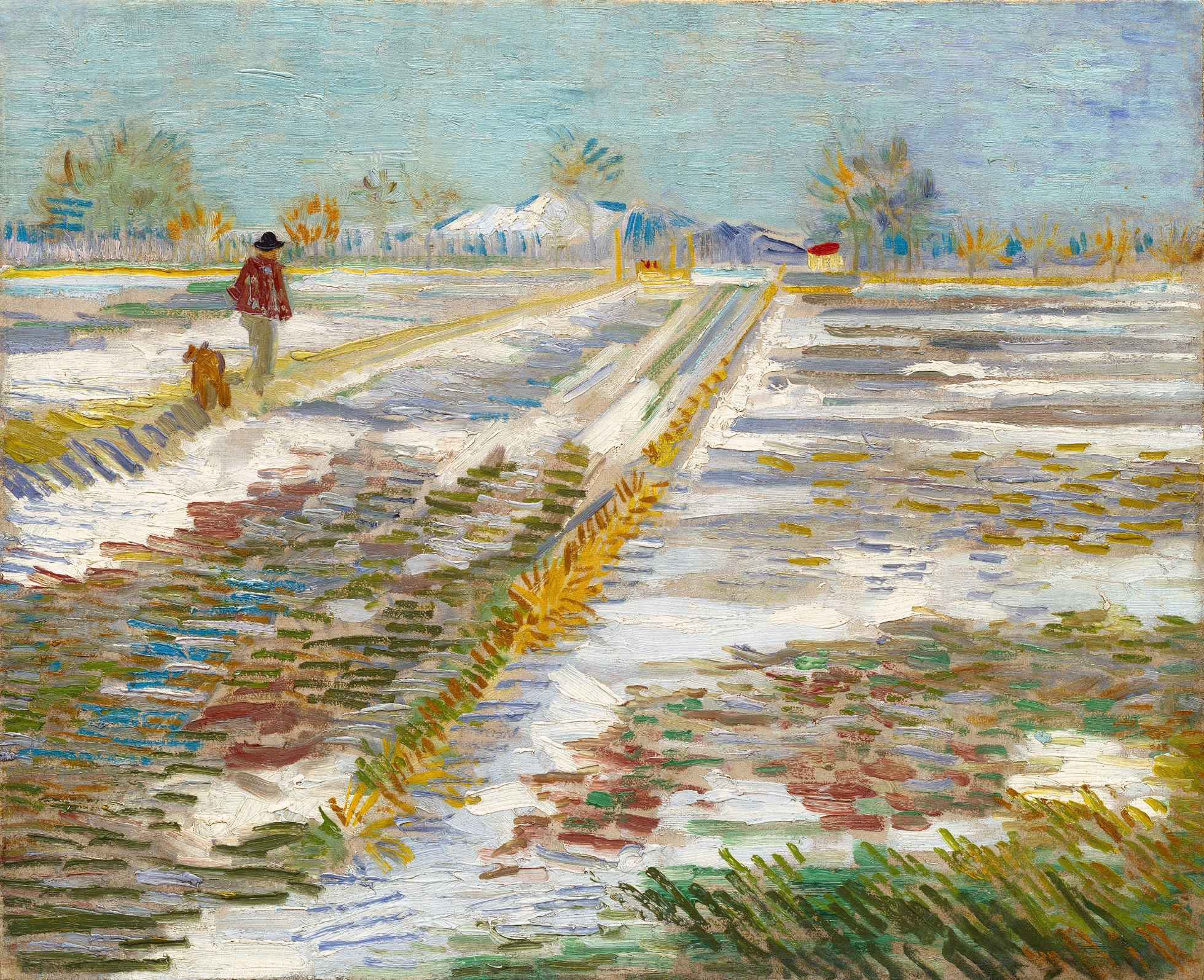 Landscape with Snow ( Paysage Enneigé ),  by Vincent Van Gogh, 1888