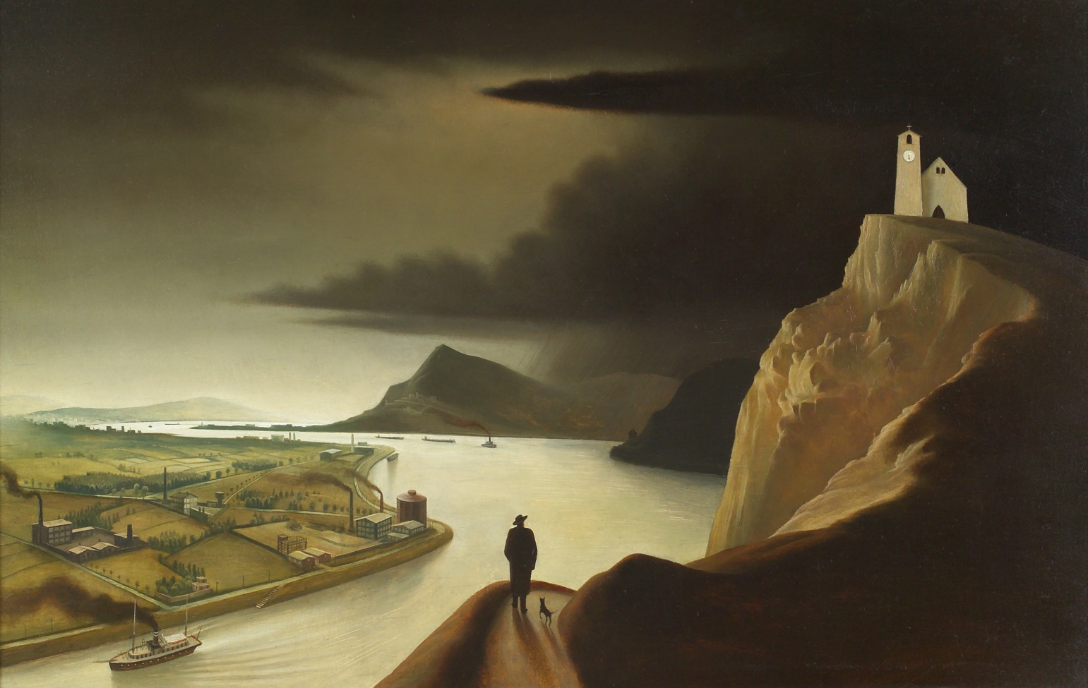 Industrielandschaft, by Franz Sedlacek, 1934