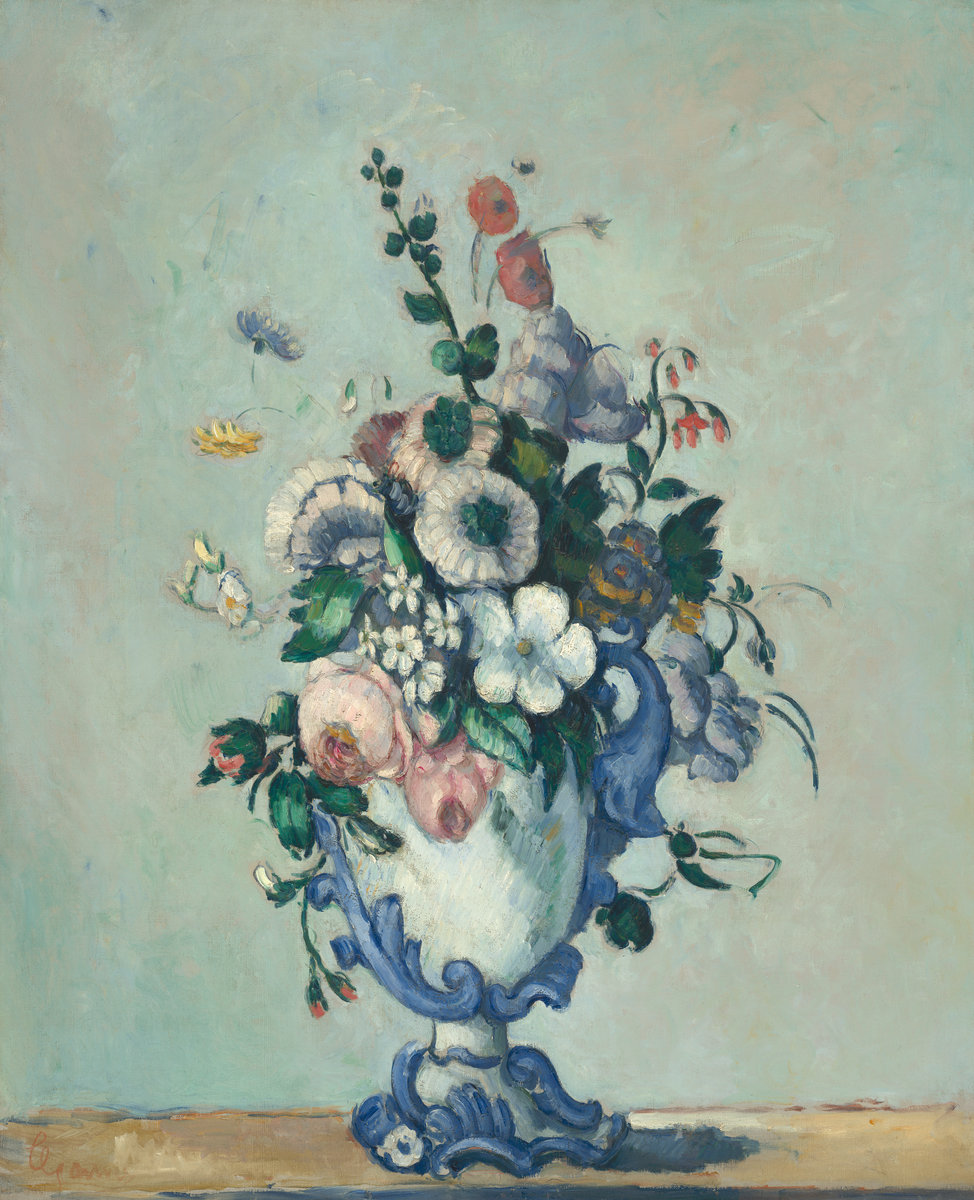 Flowers in a Rococo Vase, by Paul Cézanne, circa 1876
