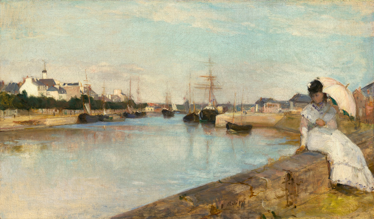 The Harbor at Lorient, by Berthe Morisot, 1869